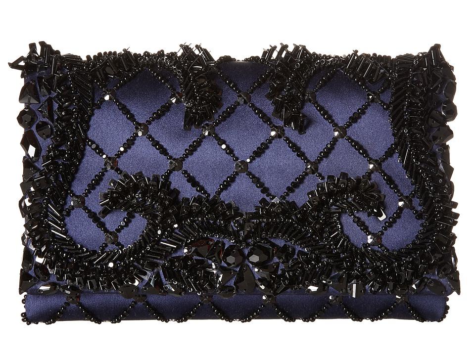 Oscar de la Renta - Petite Evening (Midnight Embroidered Satin) Clutch Handbags