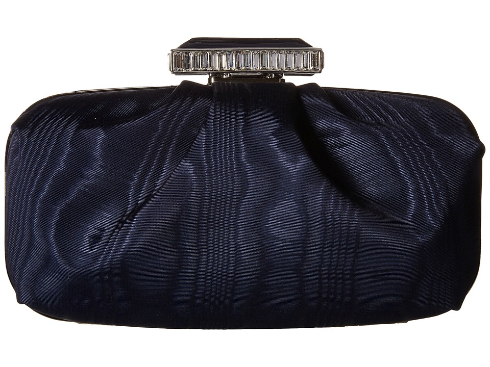 Oscar de la Renta - Goa Moire Faille (Midnight Moire Faille) Clutch Handbags