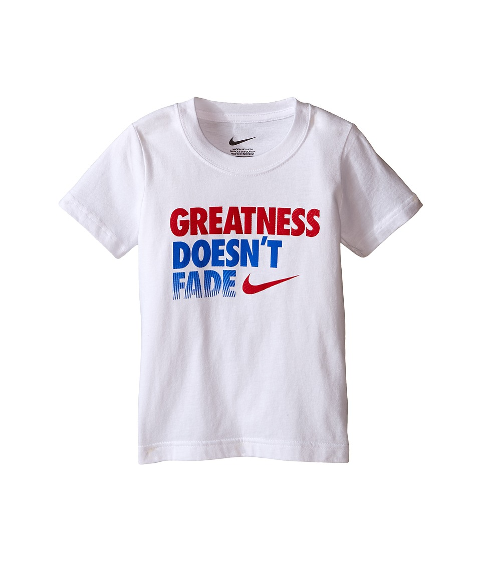 Nike Kids - Greatness Short Sleeve Tee (Toddler) (White) Boy's T Shirt