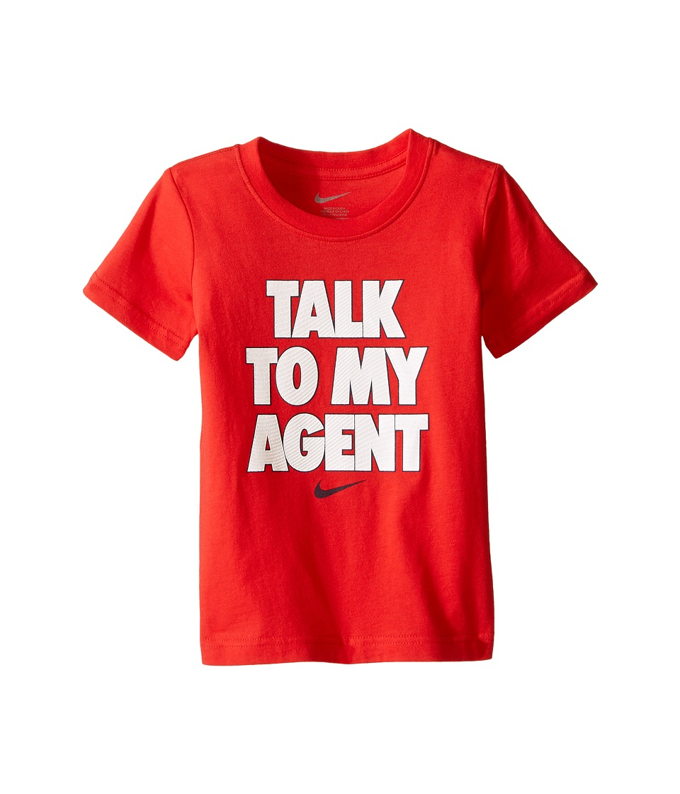 Nike Kids - Talk To My Agent Short Sleeve Top (Toddler) (University Red) Boy's Clothing