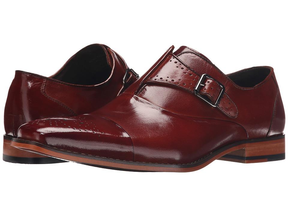 Stacy Adams - Tipton (Cognac) Men's Monkstrap Shoes