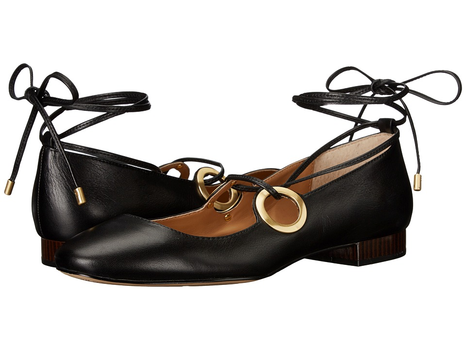 Calvin Klein - Aubree (Black Leather) Women's Shoes