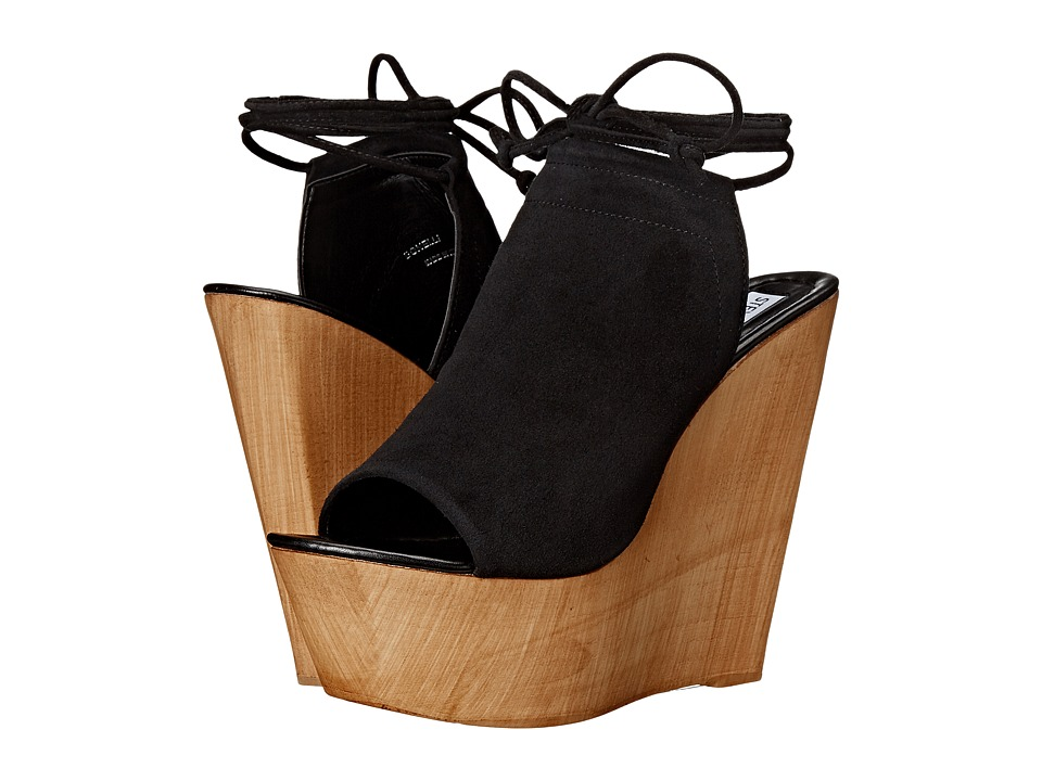 Steve Madden - Bonelli (Black Suede) Women's Wedge Shoes