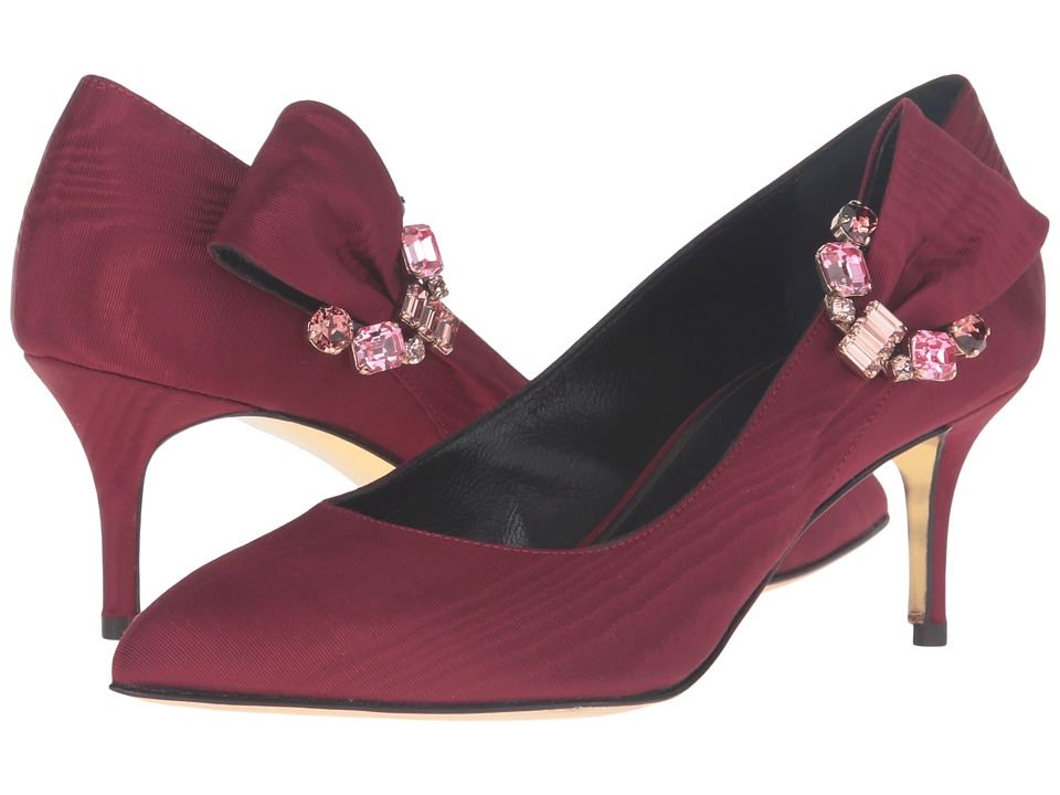 Oscar de la Renta - Naomi 55mm (Bordeaux Moire Faille/Crystals) Women's Shoes