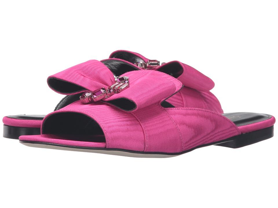 Oscar de la Renta Nev Fuchsia Moire Faille-Crystals Womens Shoes