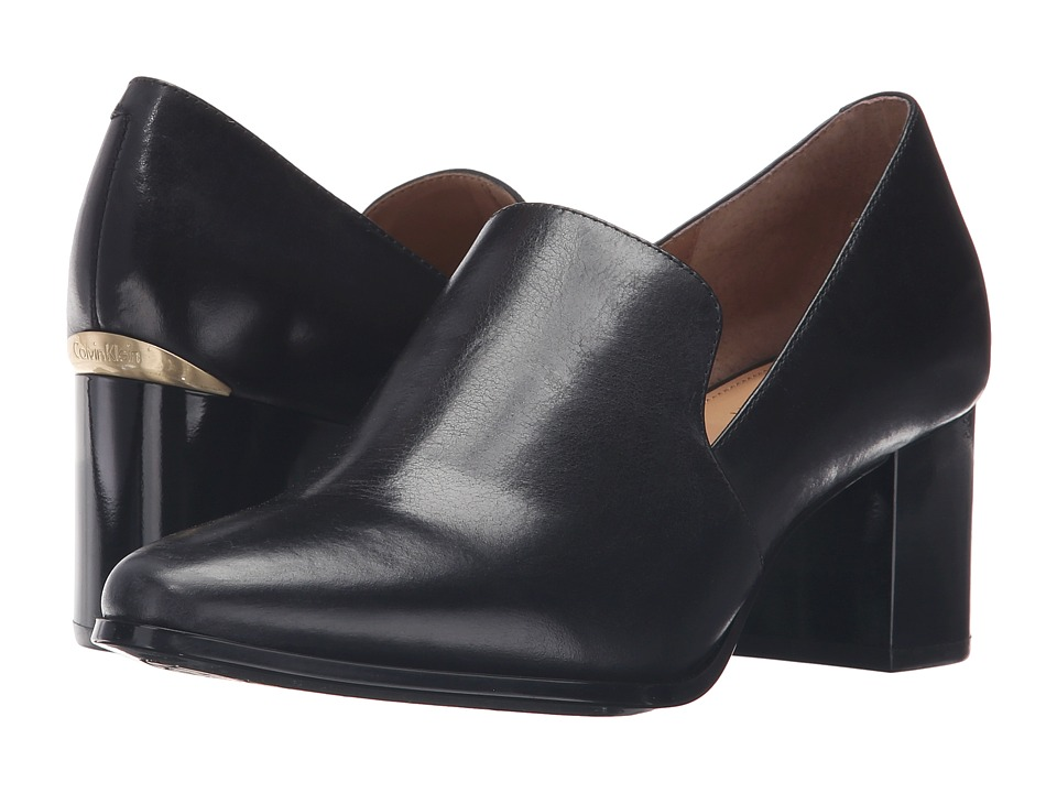 Calvin Klein - Faye (Black Leather) Women's Shoes