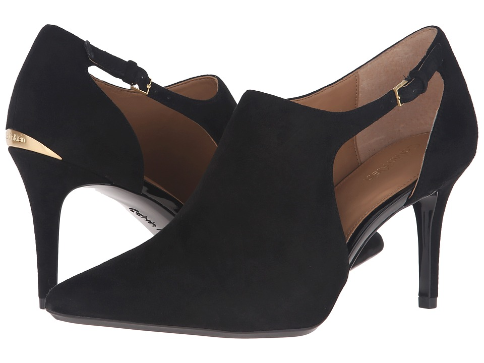 Calvin Klein - Giorgia (Black Suede) Women's Shoes