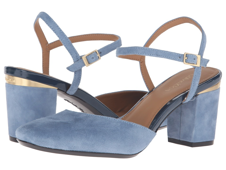 Calvin Klein Ciley (Faded Denim Suede) Women