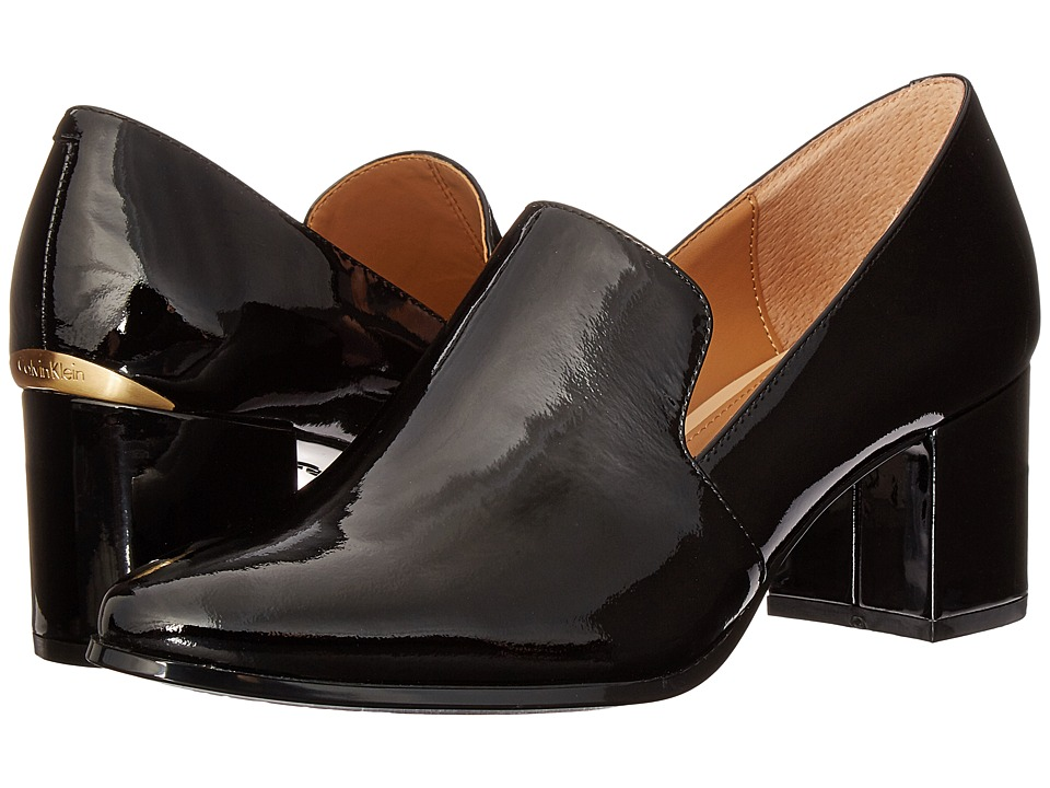 Calvin Klein - Faye (Black Patent) Women's Shoes