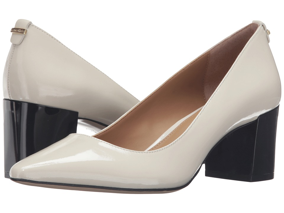 Calvin Klein - Natalynn (Soft White/Black Patent) Women's Shoes