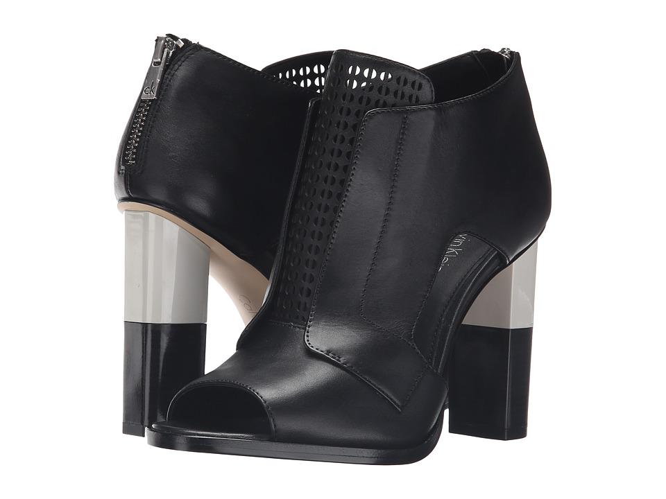 Calvin Klein - Kissa (Black Leather) Women's Shoes
