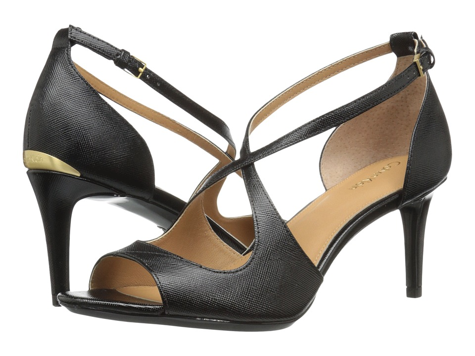 Calvin Klein - Landria (Black Saffiano) Women's Shoes