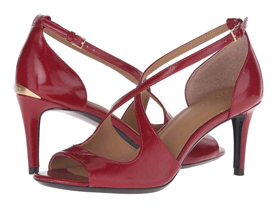 Calvin Klein - Landria (Garnet Saffiano) Women's Shoes
