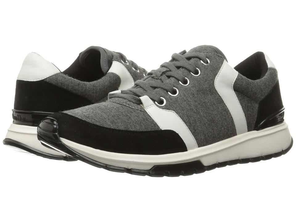 Calvin Klein - Vinnie (Grey/Black/White Neoprene/Suede/Leather) Women's Shoes
