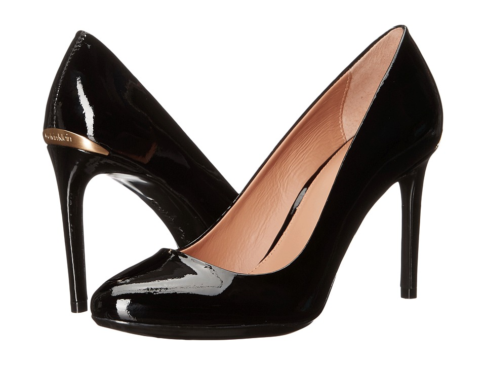 Calvin Klein - Salene (Black Patent) Women's Shoes