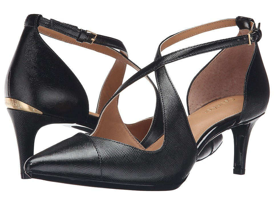 Calvin Klein - Pamette (Black Saffiano) Women's Shoes