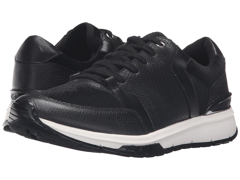 Calvin Klein - Vinnie (Black Velvet Snake Print/Leather) Women's Shoes