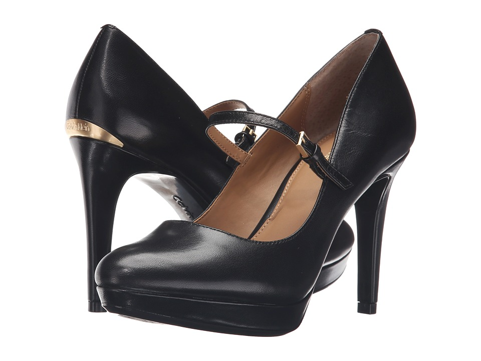Calvin Klein - Paislie (Black Leather) Women's Shoes