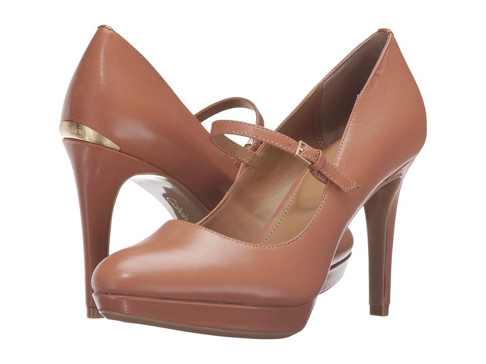 Calvin Klein - Paislie (Caramel Leather) Women's Shoes