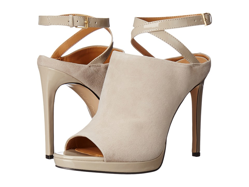 Calvin Klein - Samanta (Clay Suede/Patent) Women's Shoes