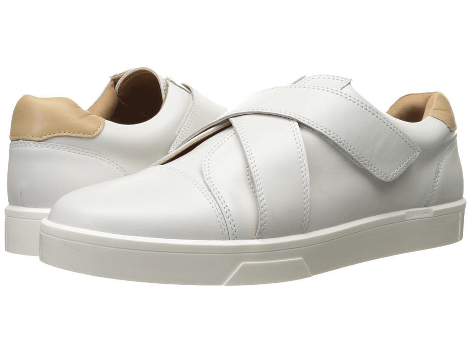 Calvin Klein Issie Platinum White Leather Womens Shoes