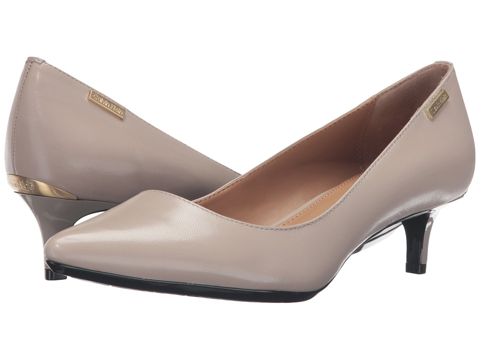 Calvin Klein - Gabrianna (Clay Leather) Women's 1-2 inch heel Shoes
