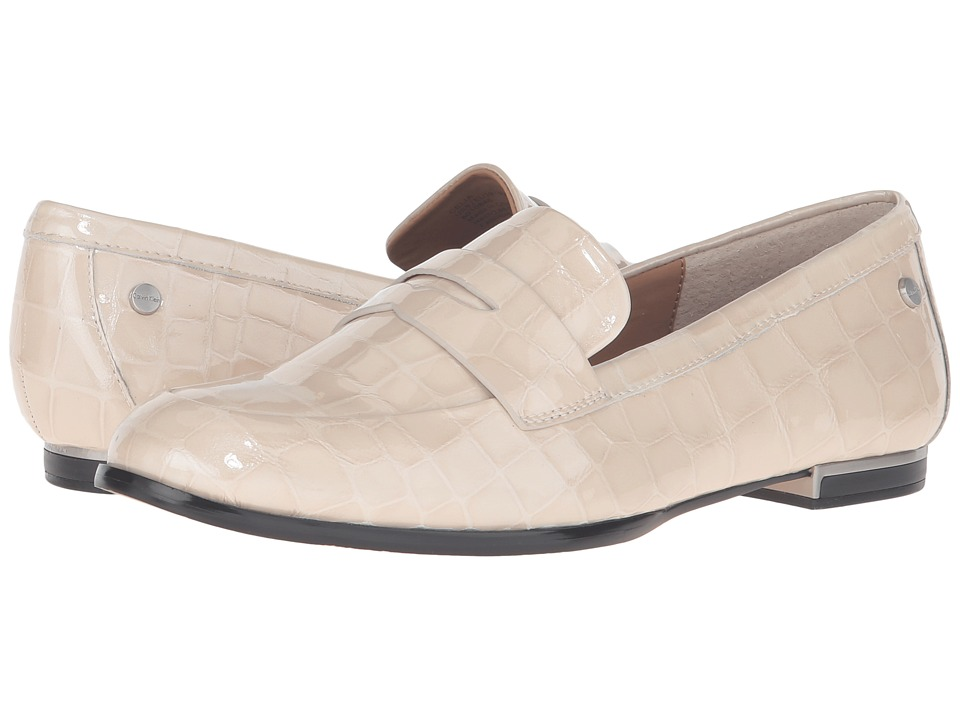 Calvin Klein - Celia (Soft White Croco Print Patent) Women's Shoes
