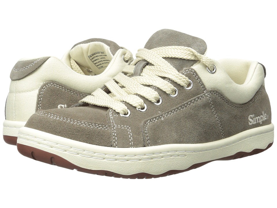 Simple - OS - Sneaker (Taupe Suede) Men's Shoes