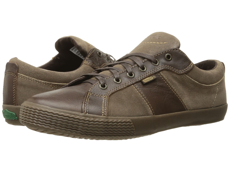 Simple - Waveoff (Brown Soft Leather) Men's Shoes