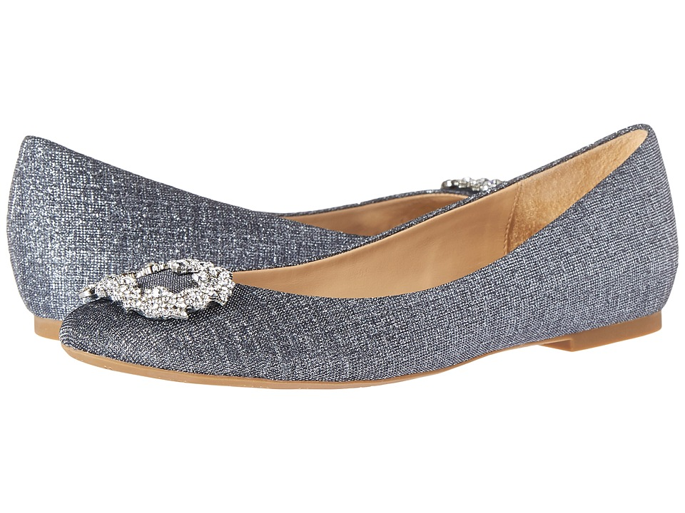 Badgley Mischka - North (Pewter Woven Metallic Fabric) Women's Flat Shoes