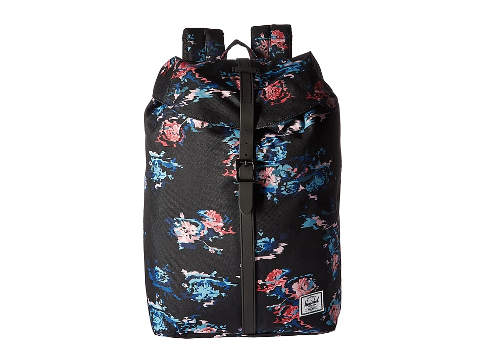 Herschel Supply Co. - Post (Floral Blur/Black Rubber) Backpack Bags