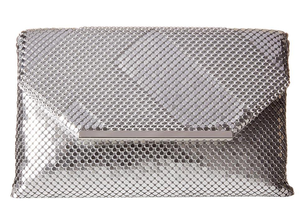 Jessica McClintock - Kiera Mesh Envelope Clutch (Silver) Clutch Handbags