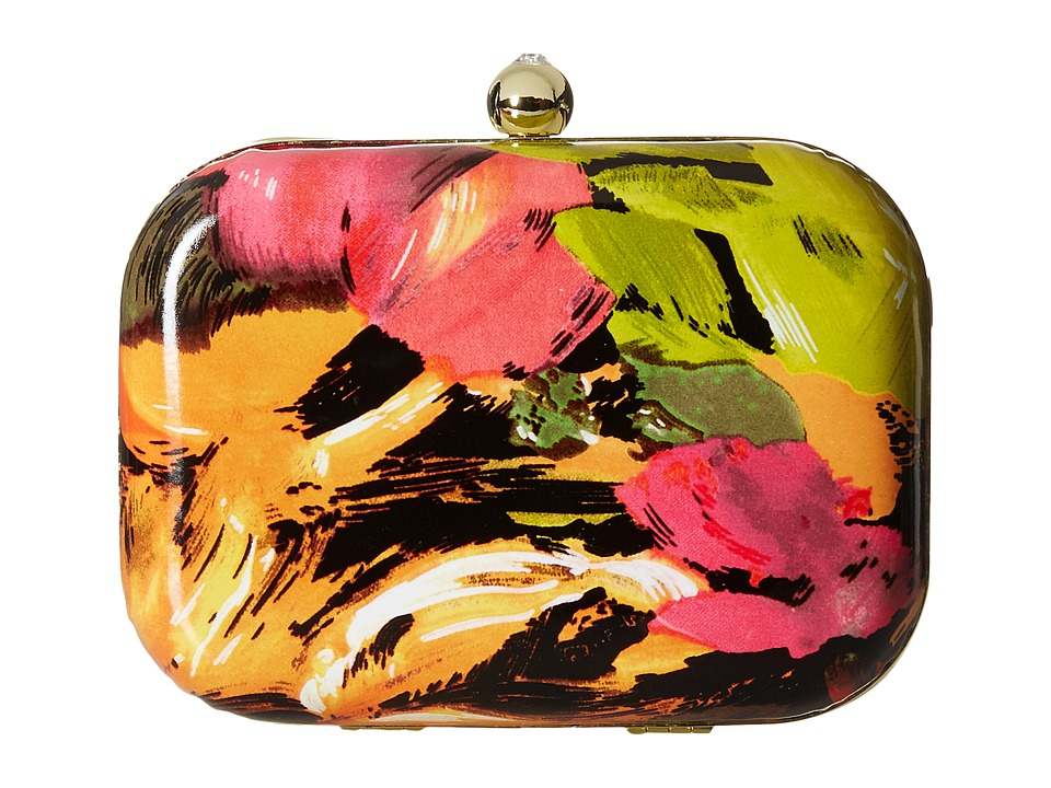 Jessica McClintock - Roxi Floral Minaudiere (Floral) Clutch Handbags