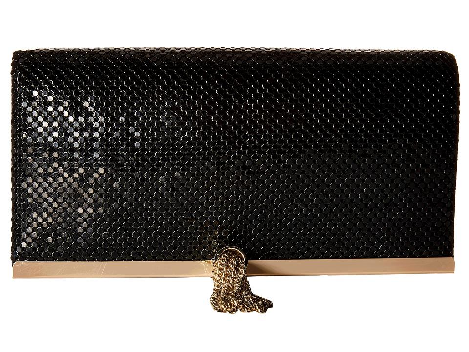 Jessica McClintock - Cassie Tassle Clutch (Black) Clutch Handbags
