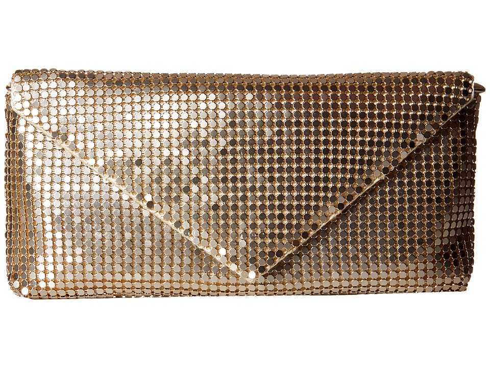 Jessica McClintock - Grace Mesh Envelope Clutch (Light Gold) Clutch Handbags