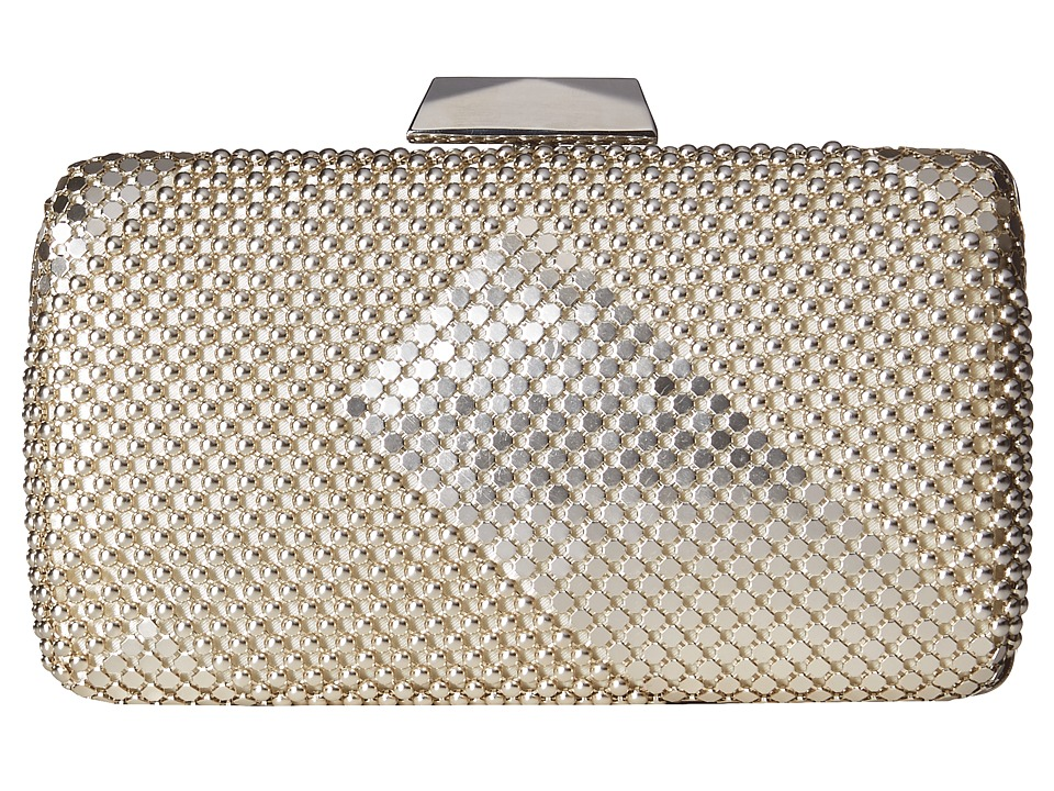 Jessica McClintock - Callie Mesh Minaudiere (Light Gold) Clutch Handbags