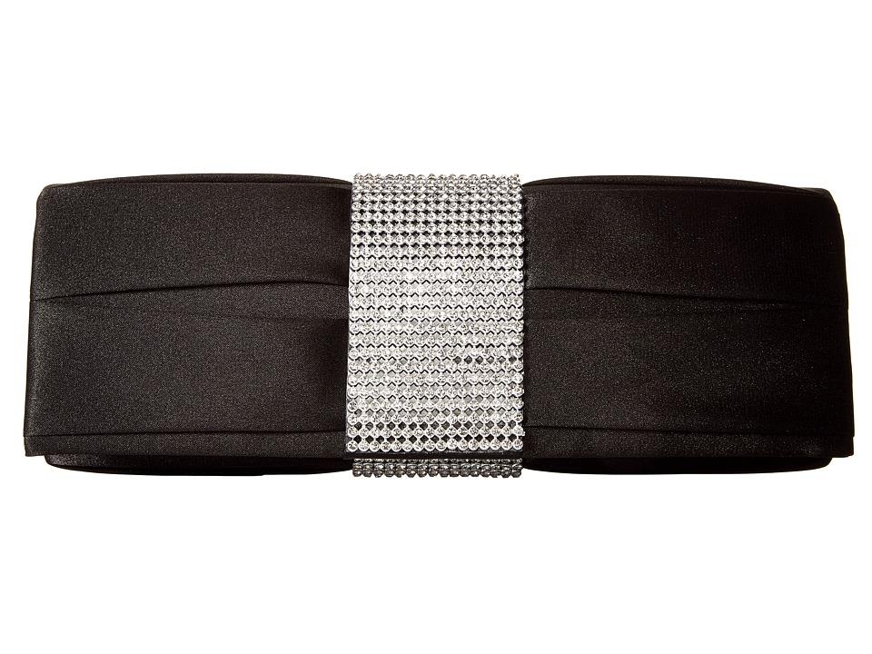 Jessica McClintock - Katine Satin Clutch (Black) Clutch Handbags