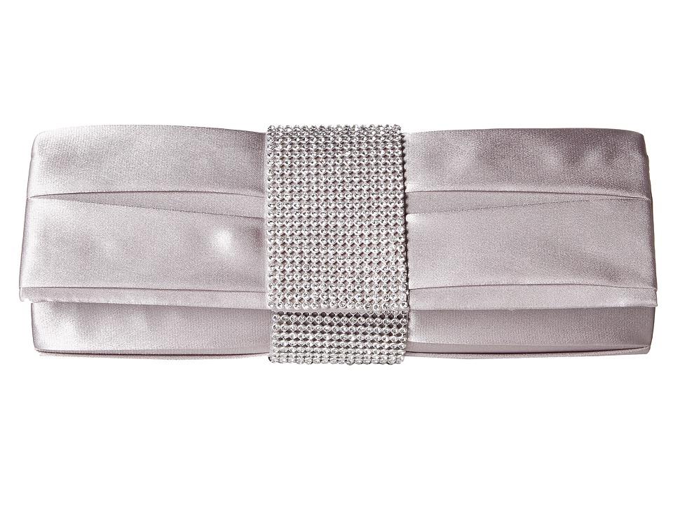Jessica McClintock - Katine Satin Clutch (Silver) Clutch Handbags