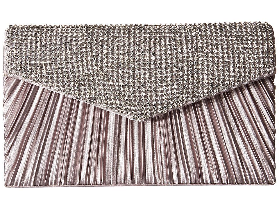 Jessica McClintock - Lily Rhinestone Envelope Clutch (Silver) Clutch Handbags