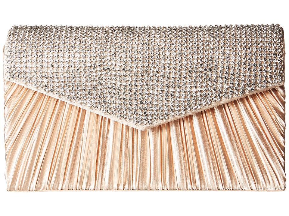 Jessica McClintock - Lily Rhinestone Envelope Clutch (Champagne) Clutch Handbags