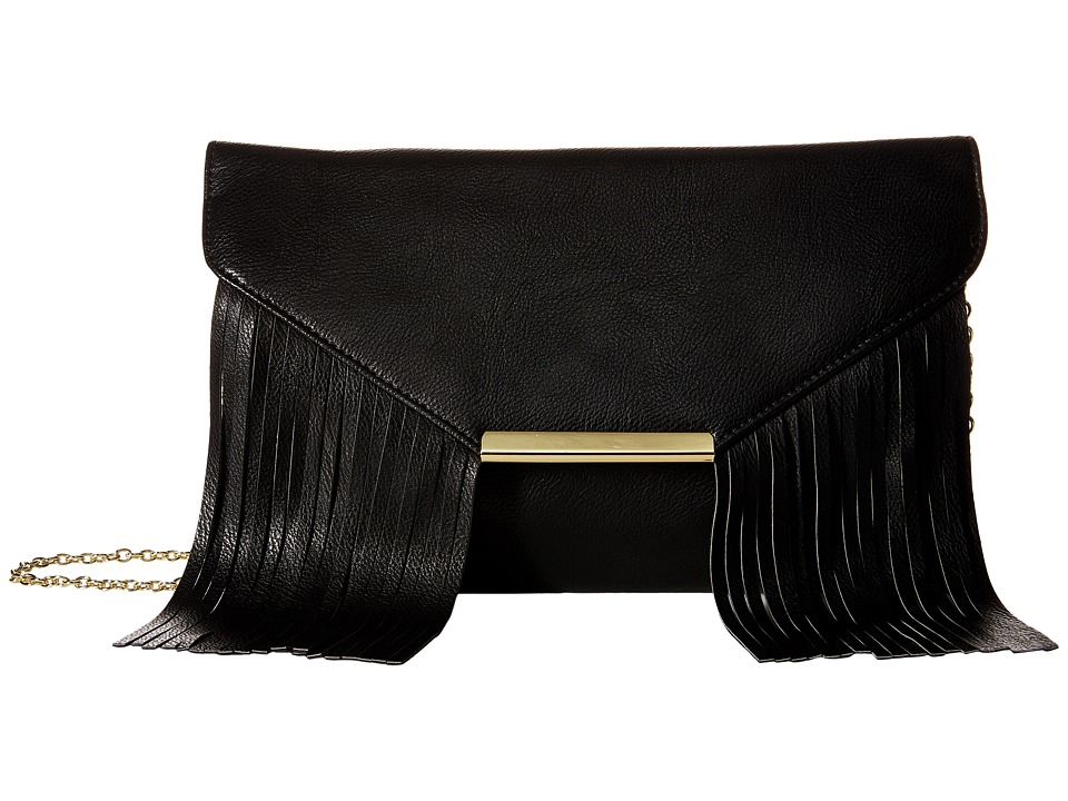 Jessica McClintock - Allison Fringe Clutch (Black) Clutch Handbags