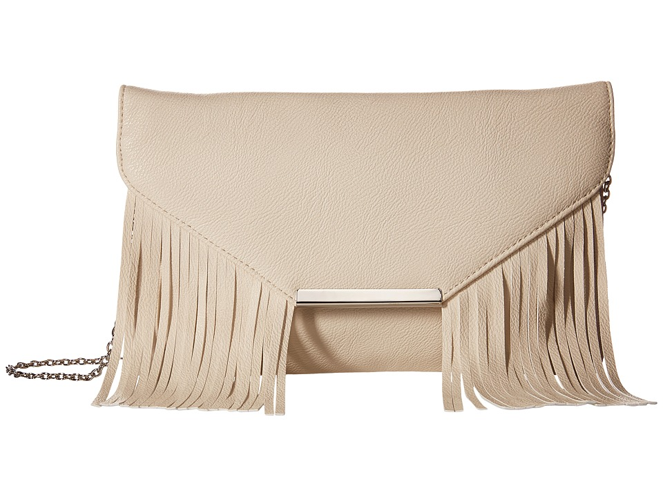 Jessica McClintock - Allison Fringe Clutch (Bone) Clutch Handbags
