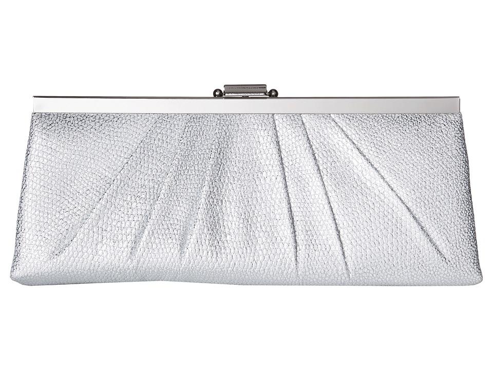 Jessica McClintock - Blaire Metallic Frame Clutch (Silver) Clutch Handbags