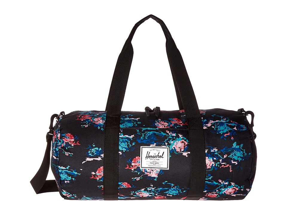 Herschel Supply Co. - Sutton Mid-Volume (Floral Blur/Black) Duffel Bags