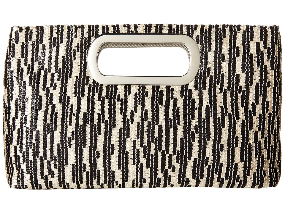 Jessica McClintock - Tiffany Sequin Clutch (Black) Clutch Handbags