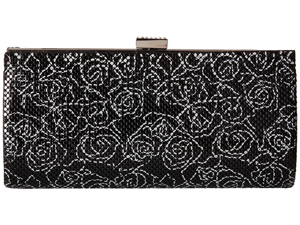 Jessica McClintock - Bailey Floral Mesh Clutch (Black) Clutch Handbags