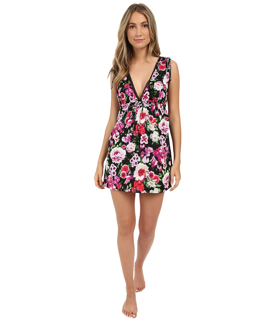 Betsey Johnson - Open Back Sleep Shirt (Floral Rhapsody) Women