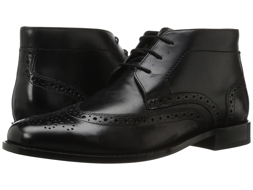 Nunn Bush - Nichols Wingtip Chukka Boot (Black) Men's Dress Lace-up Boots