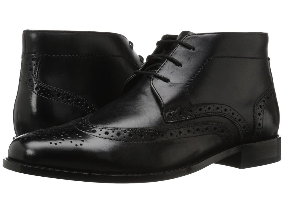 Nunn Bush Nichols Wingtip Chukka Boot (Black) Men