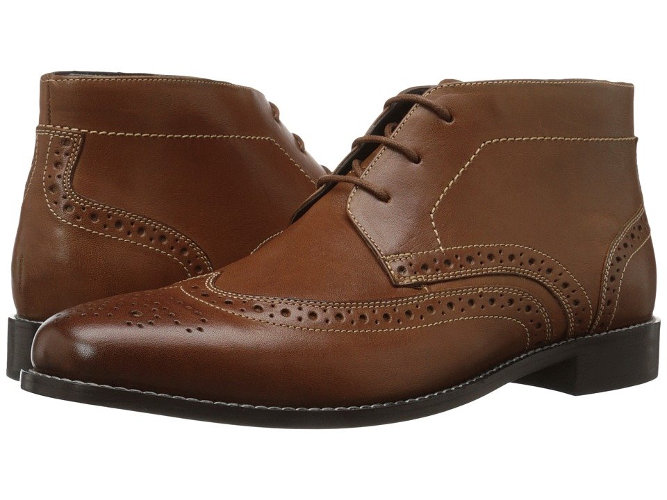 Nunn Bush - Nichols Wingtip Chukka Boot (Cognac) Men's Dress Lace-up Boots